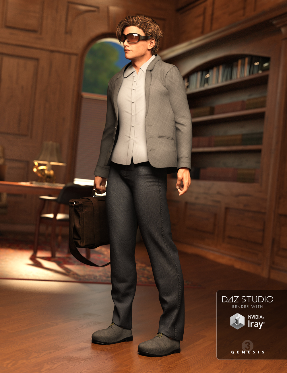 Day at the Office Outfit for Genesis 3 Male(s) by: Barbara BrundonLuthbellinaUmblefugly, 3D Models by Daz 3D