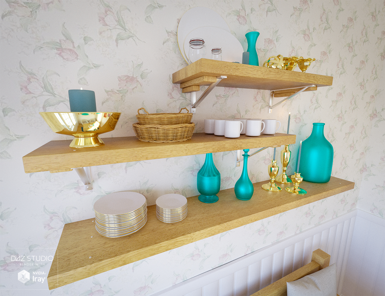 The Breakfast Nook by: Ravnheart, 3D Models by Daz 3D