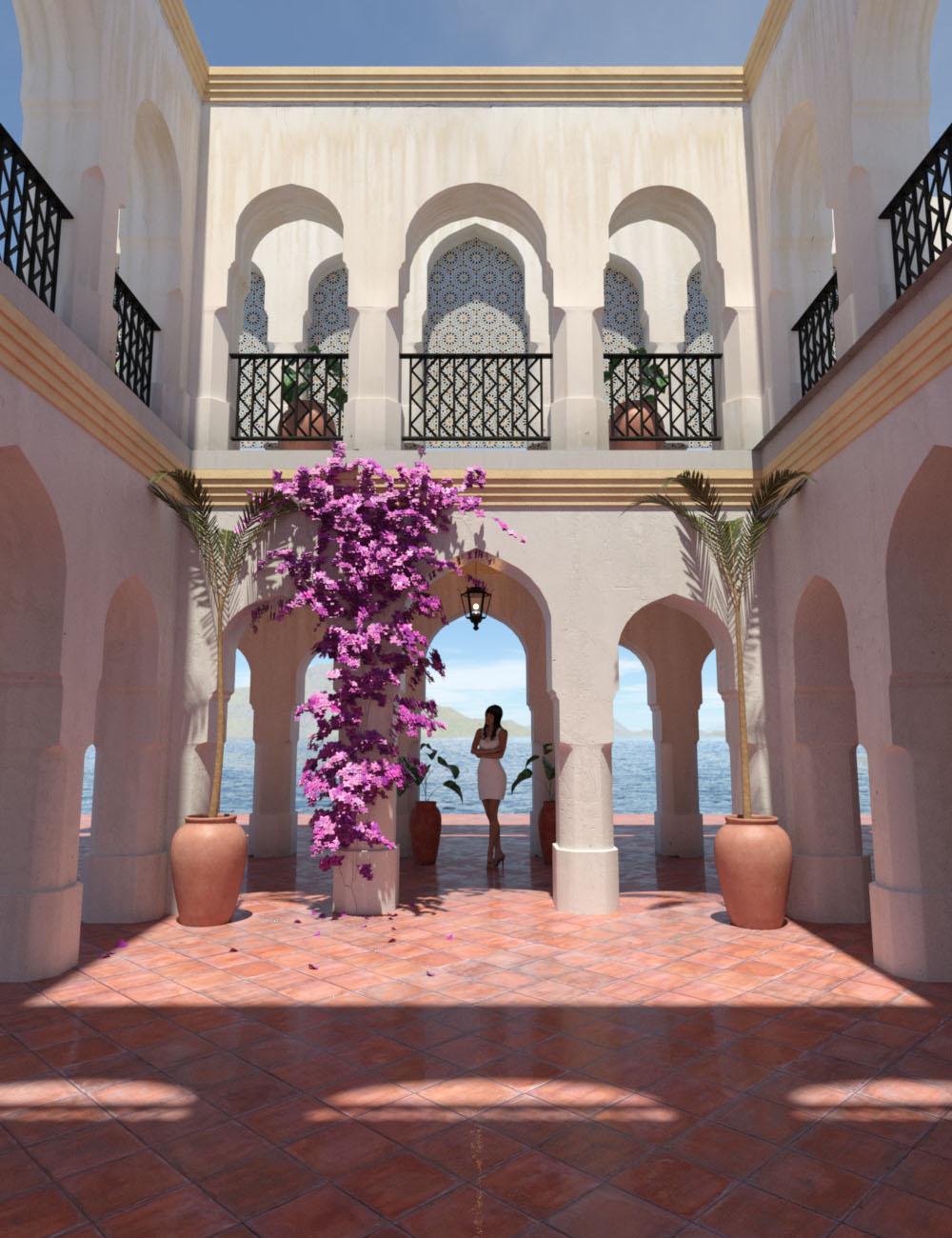 Moroccan Courtyard by: bitwelder, 3D Models by Daz 3D