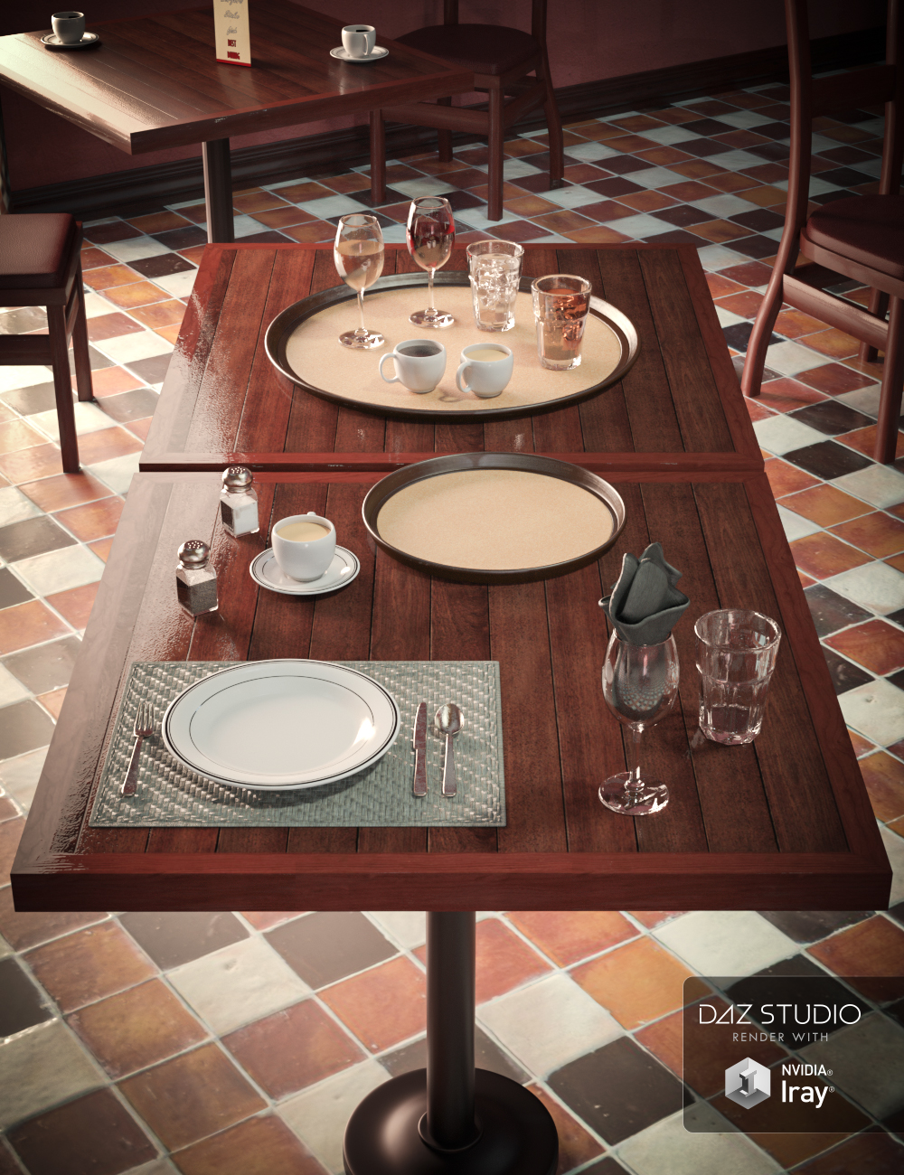 Restaurant Props by: SloshWerks, 3D Models by Daz 3D