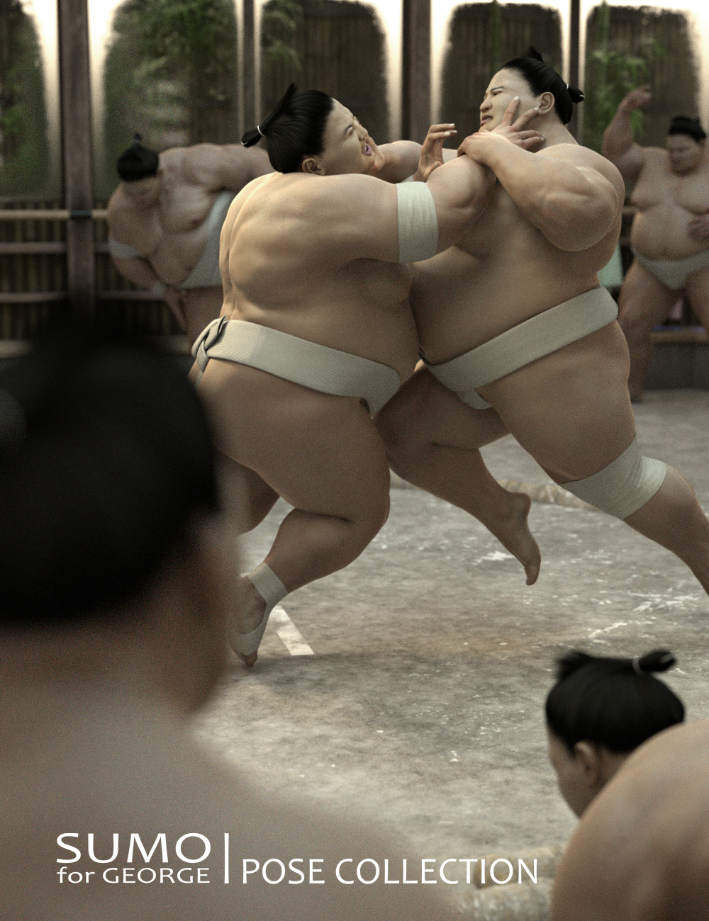 Sumo Poses for George by: Deepsea, 3D Models by Daz 3D