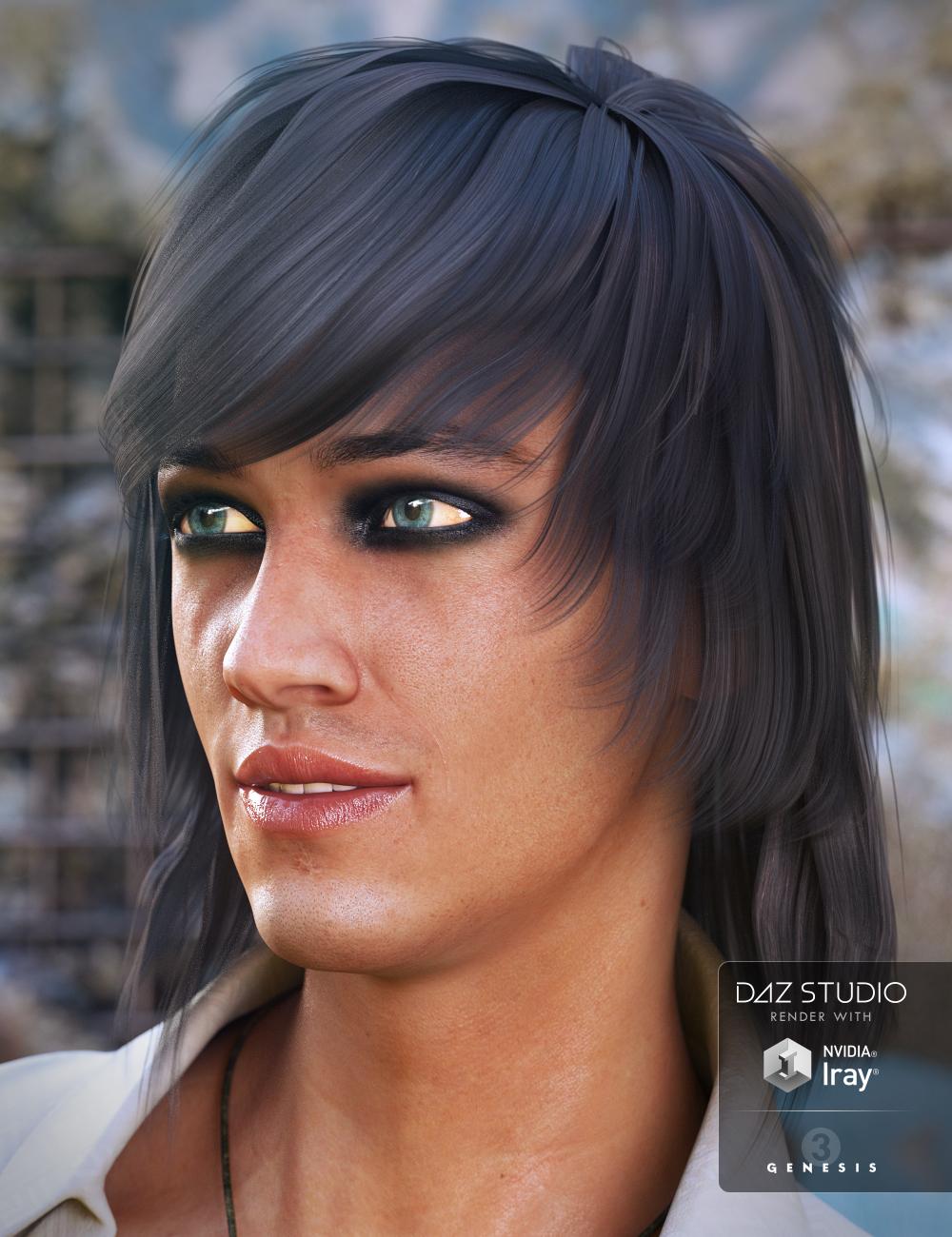 Brendan Hair for Genesis 3 Male(s) by: Propschick, 3D Models by Daz 3D