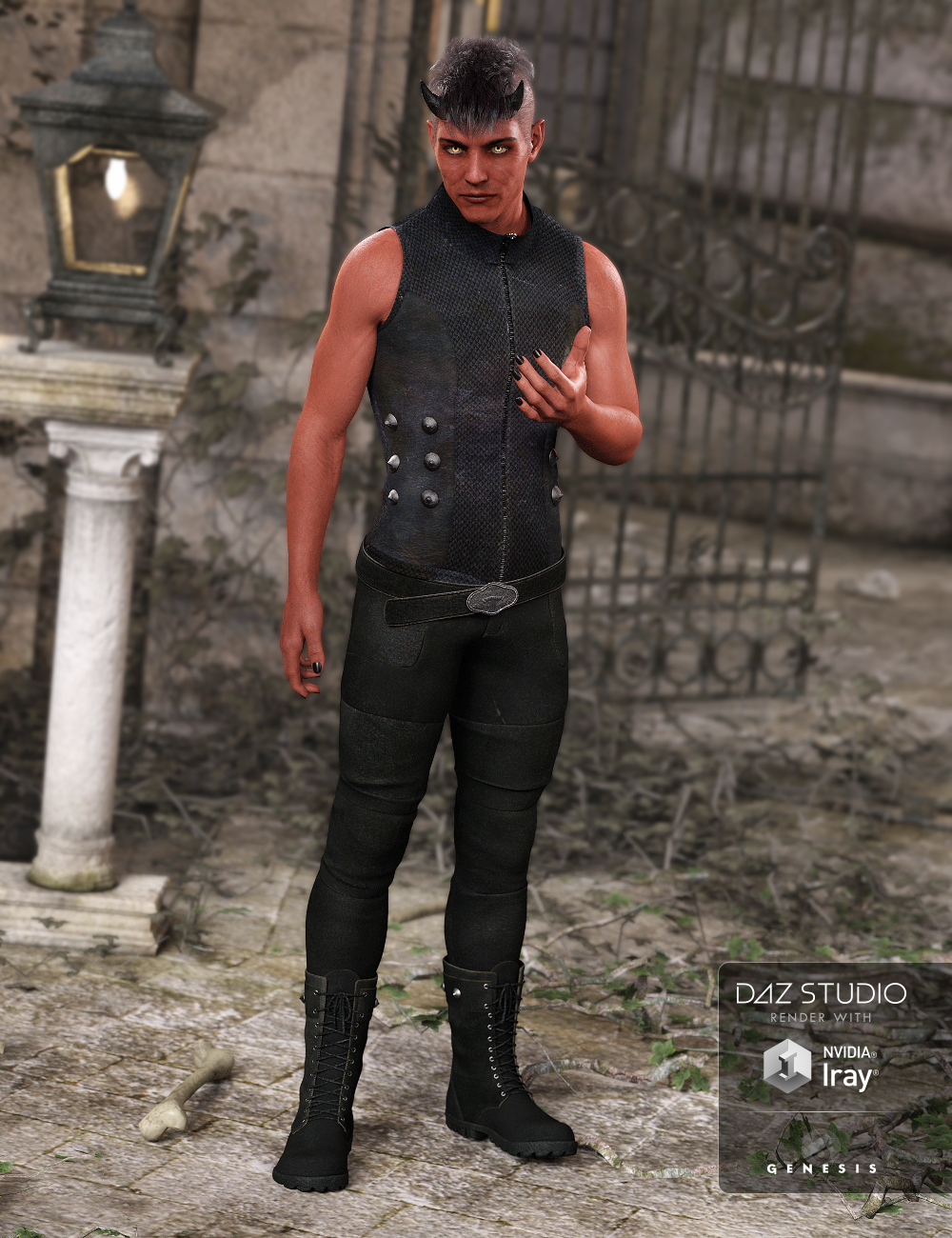 Bad Boy Outfit for Genesis 3 Male(s) by: NikisatezAnna Benjamin, 3D Models by Daz 3D