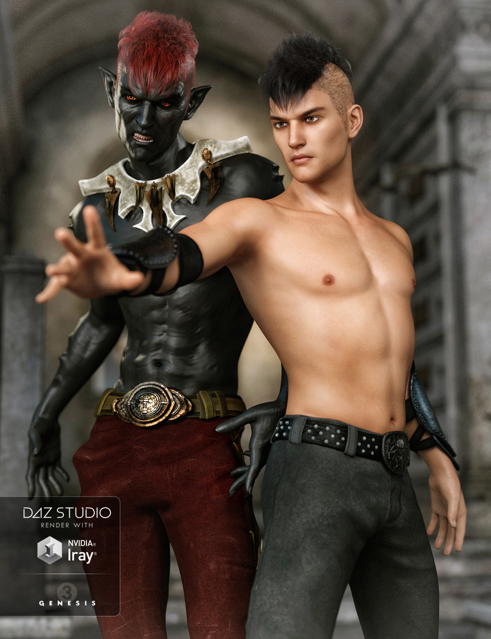 FW Aran HD for Genesis 3 Male by: Fred Winkler Art, 3D Models by Daz 3D