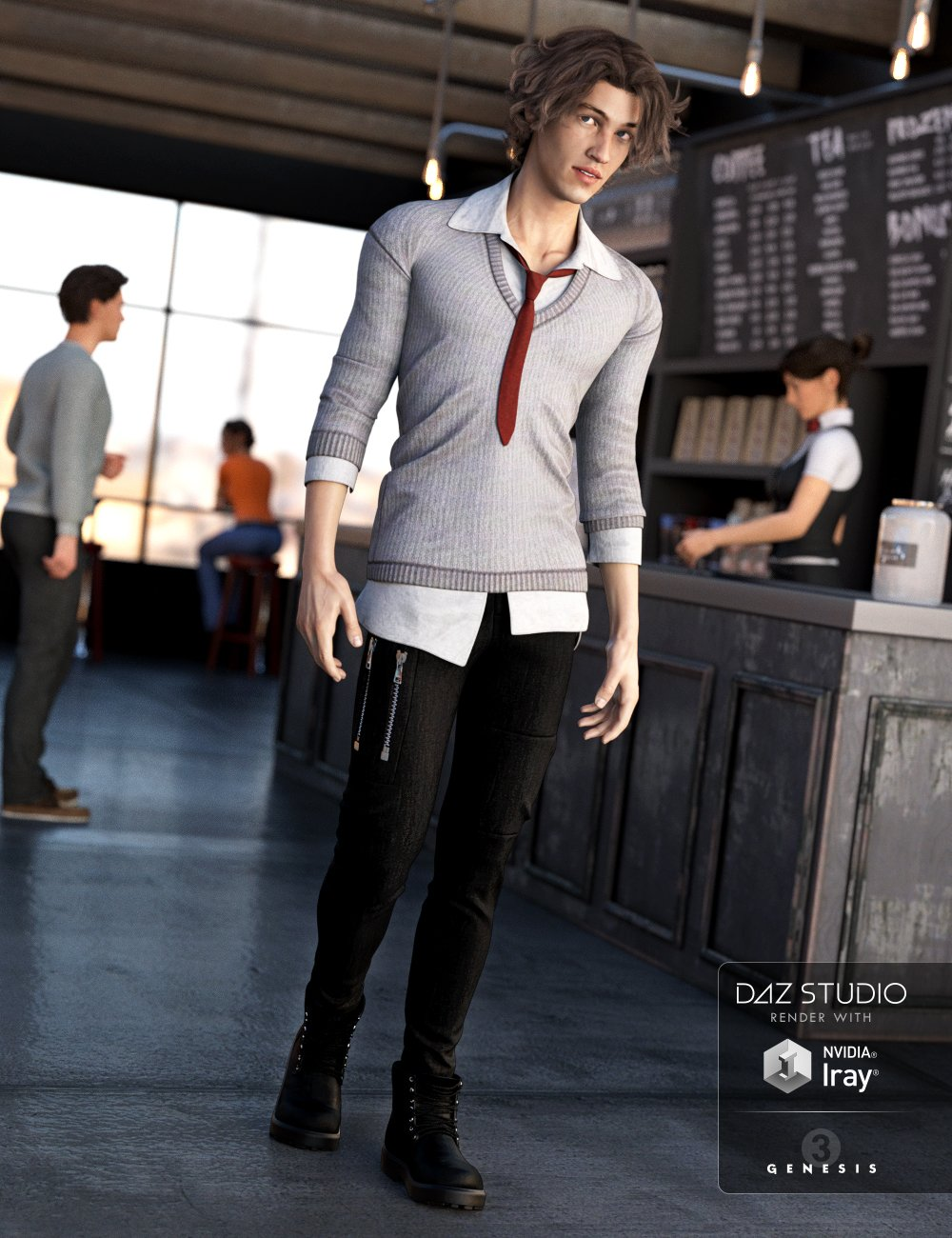 Millennial Business Casual Outfit for Genesis 3 Male(s) by: NikisatezLuthbellina, 3D Models by Daz 3D