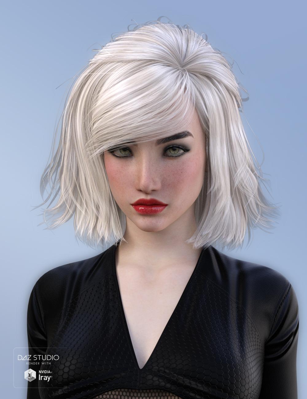 Leora Hair for Genesis 3 Female(s) by: SWAM, 3D Models by Daz 3D