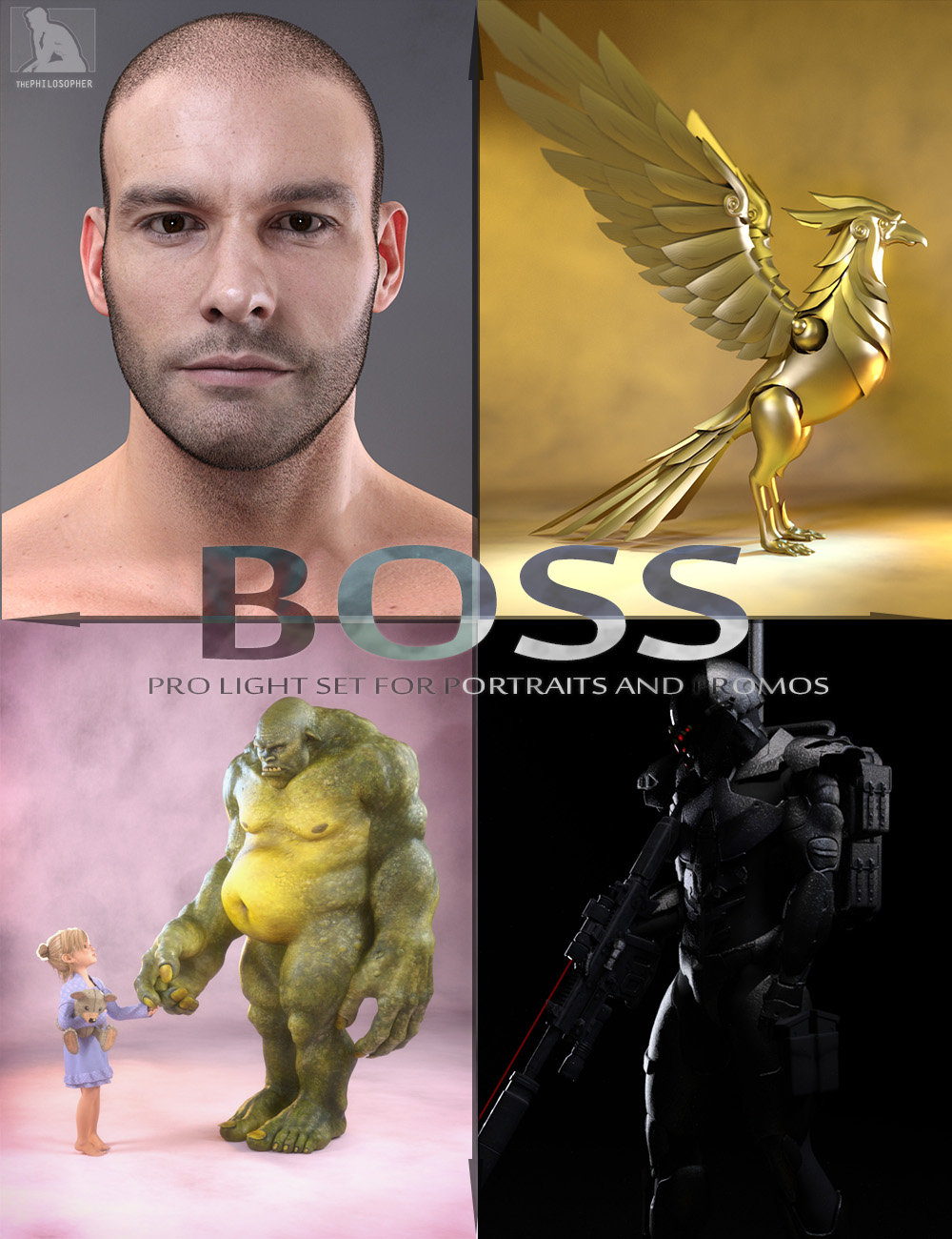 BOSS Pro Light Set for Portraits & Promos by: ThePhilosopher, 3D Models by Daz 3D