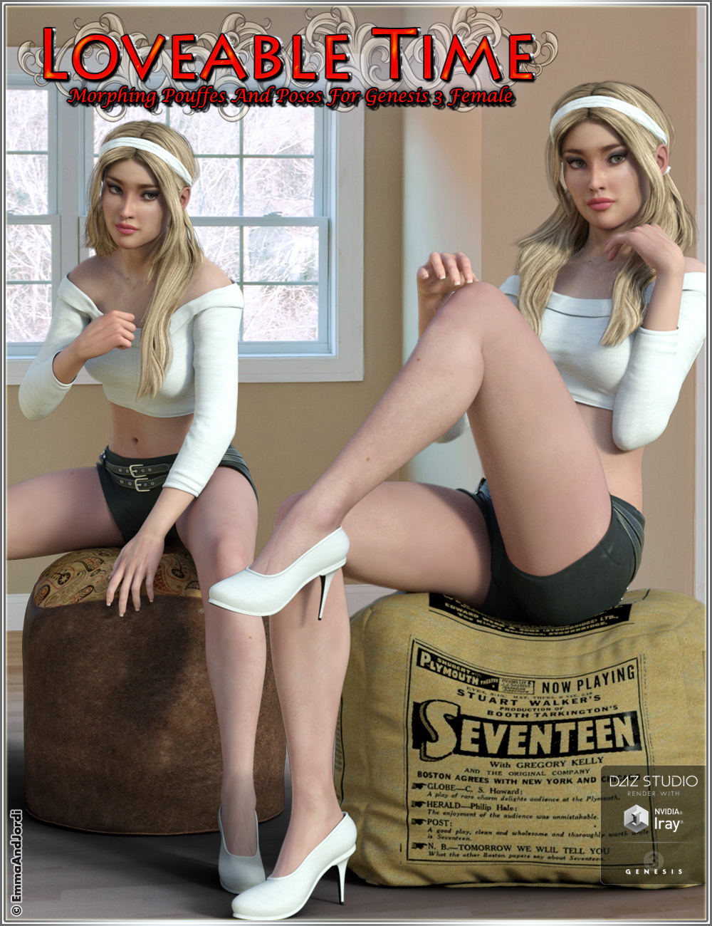 Loveable Time: Morphing Pouffes and Poses by: EmmaAndJordi, 3D Models by Daz 3D