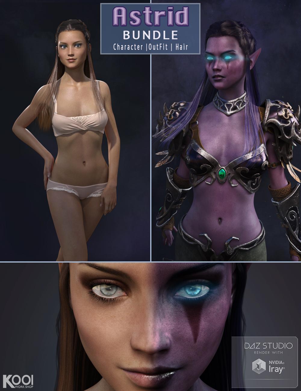 Astrid Elf Bundle by: Kool, 3D Models by Daz 3D