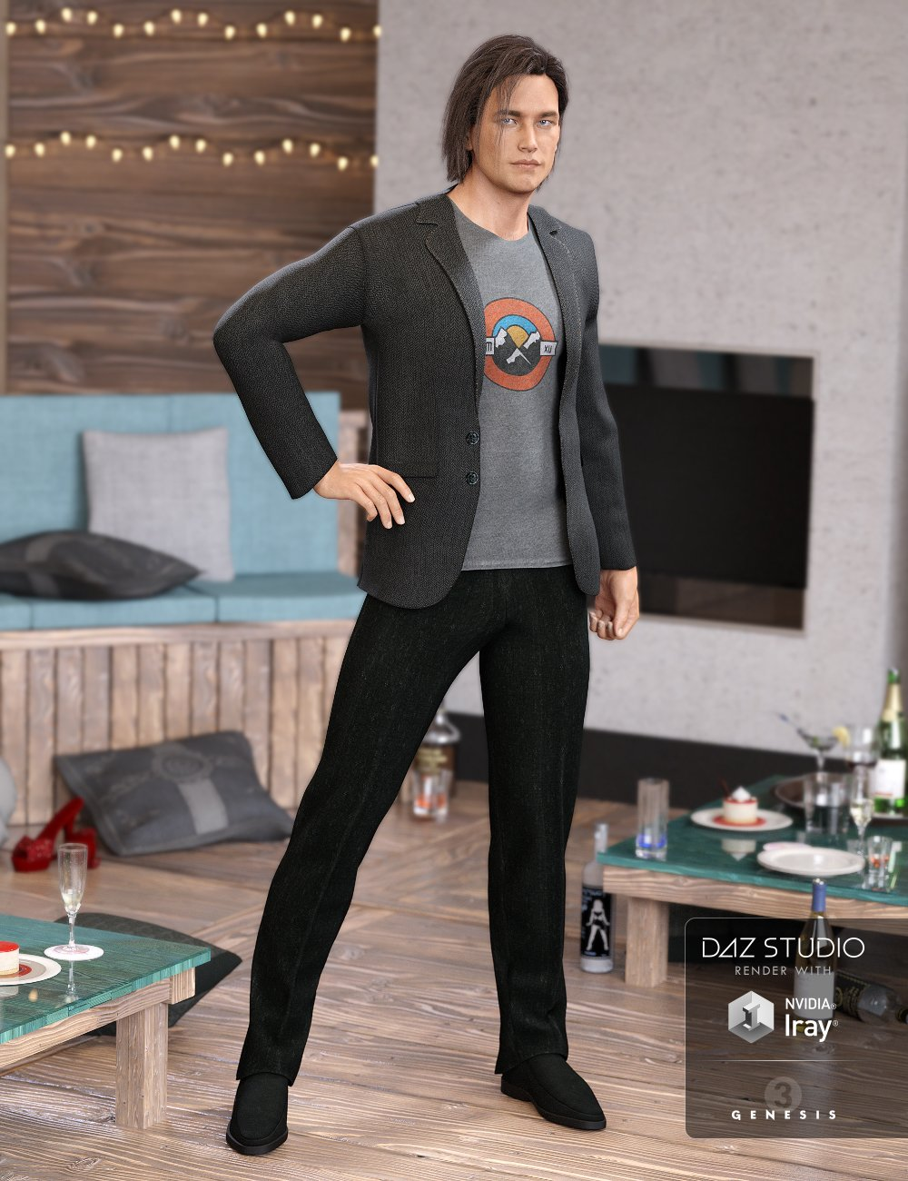 After Party Suit for Genesis 3 Male(s) by: NikisatezAnna Benjamin, 3D Models by Daz 3D