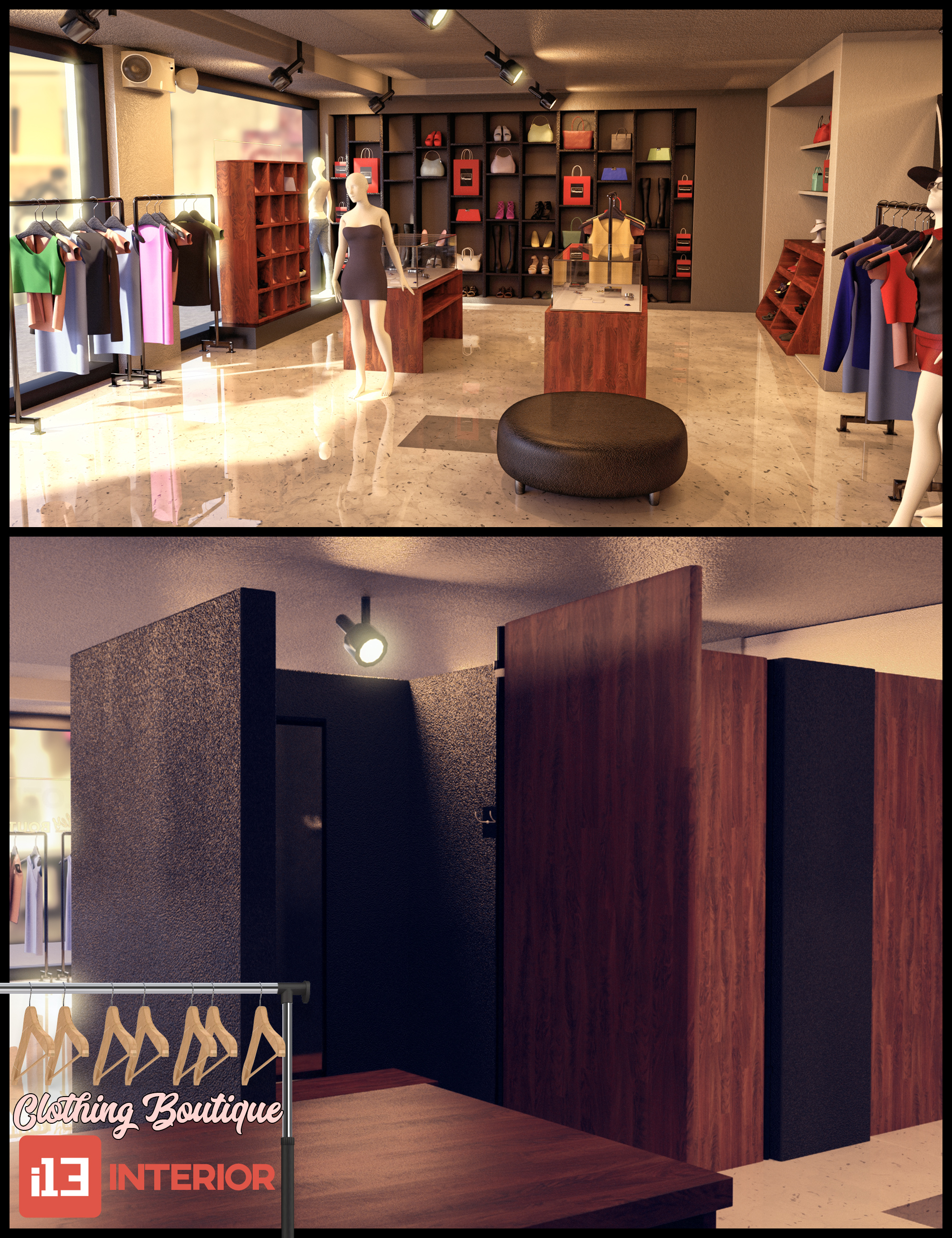 i13 Clothing Boutique Interior by: ironman13, 3D Models by Daz 3D
