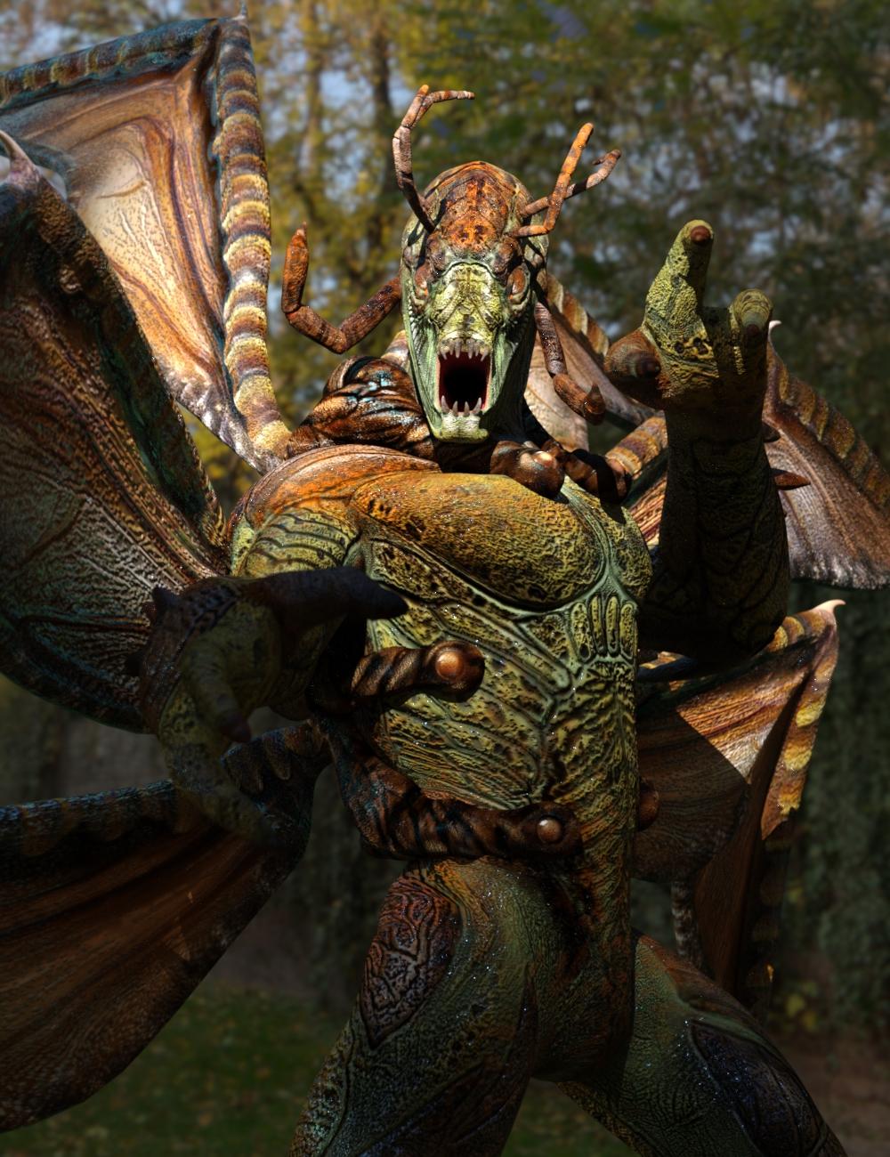 Mantisaran Original Figure by: SubSpeciesCreationsSixus1 Media, 3D Models by Daz 3D