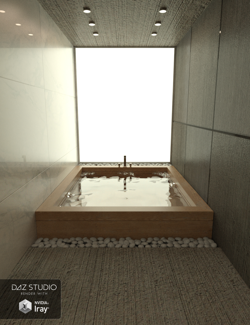 Modern Bathroom by: Moonscape Graphics, 3D Models by Daz 3D