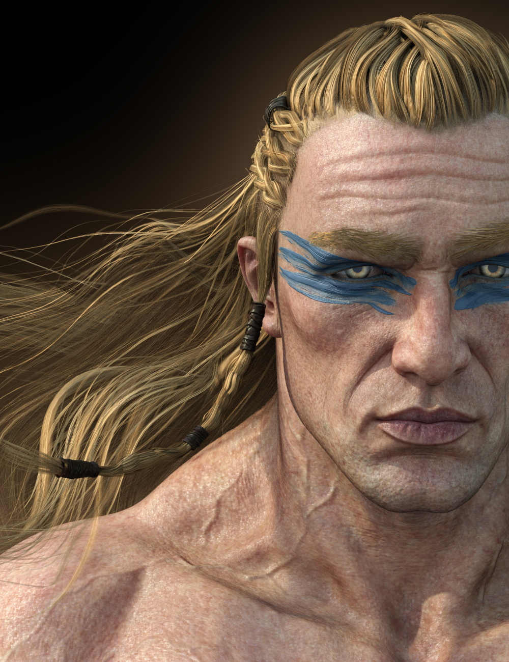 Dragonsbane Barbarian Character HD for Genesis 3 Male by: Luthbel, 3D Models by Daz 3D