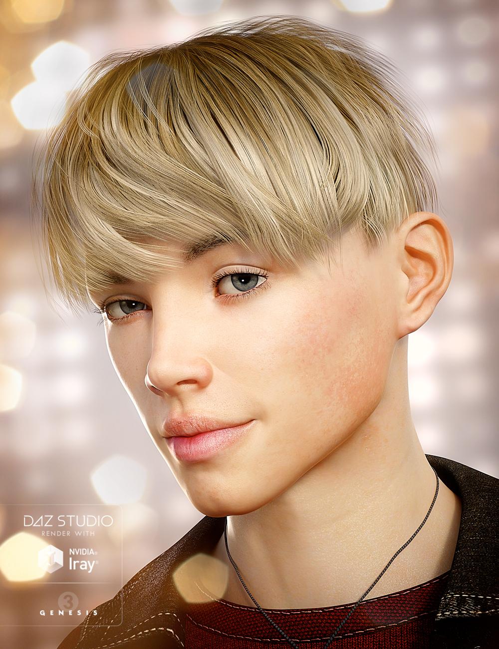 Bowl Cut Hair for Genesis 3 Male(s) by: goldtassel, 3D Models by Daz 3D