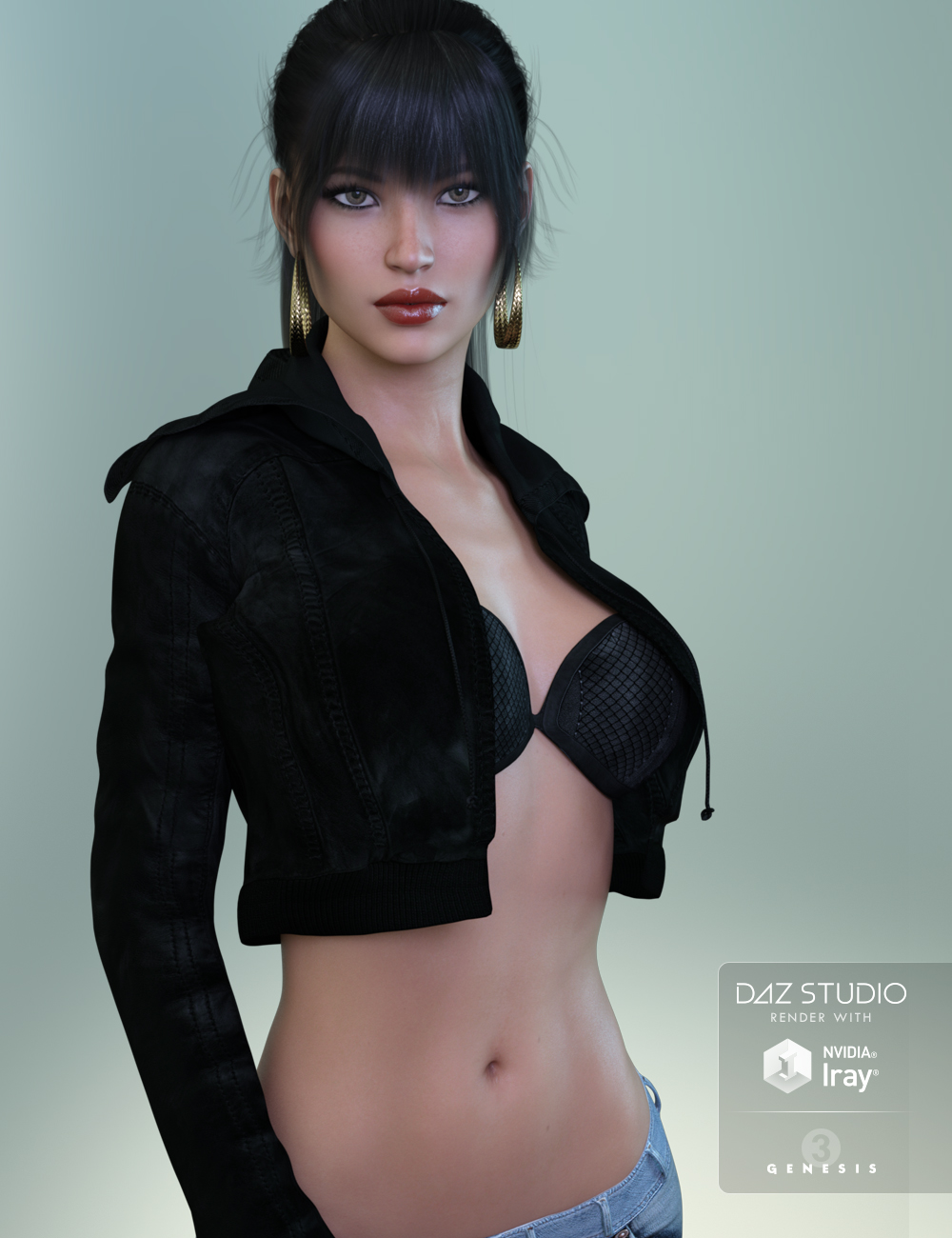 FW Hillary HD for Genesis 3 Female by: Fred Winkler Art, 3D Models by Daz 3D