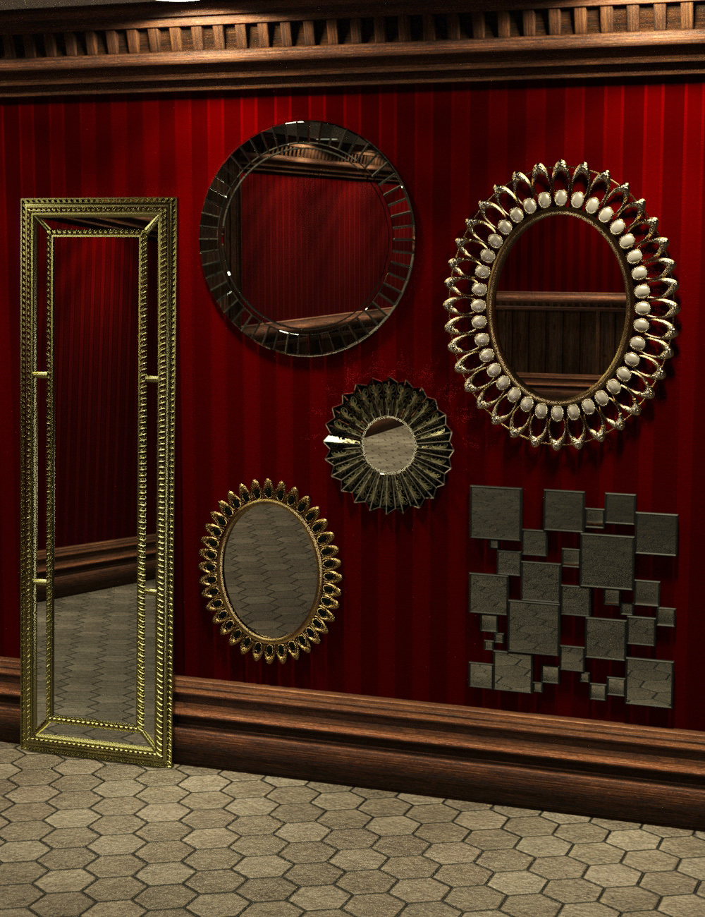 Mirror Mirror by: ARTCollab, 3D Models by Daz 3D