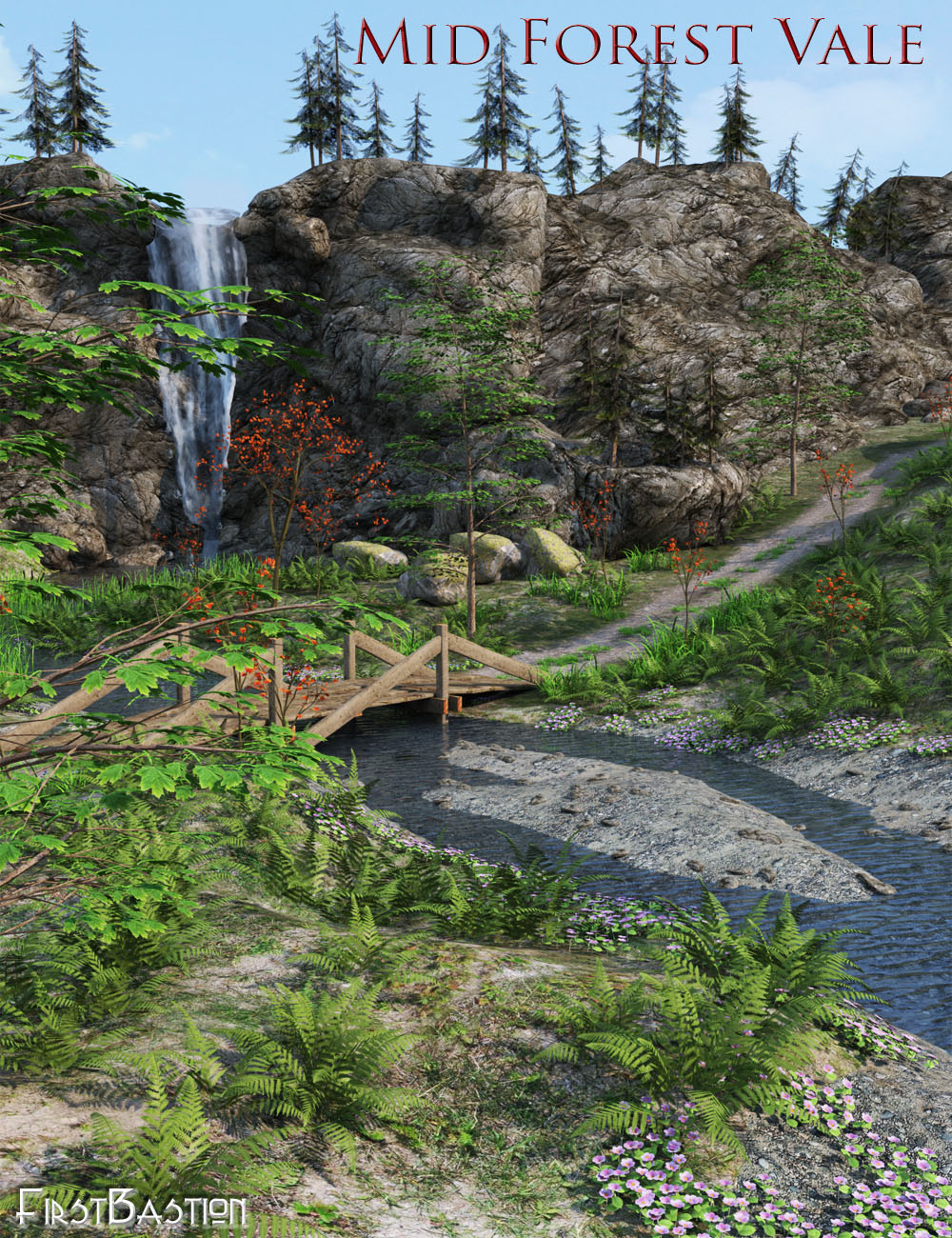 1stBastions Mid Forest Vale by: FirstBastion, 3D Models by Daz 3D
