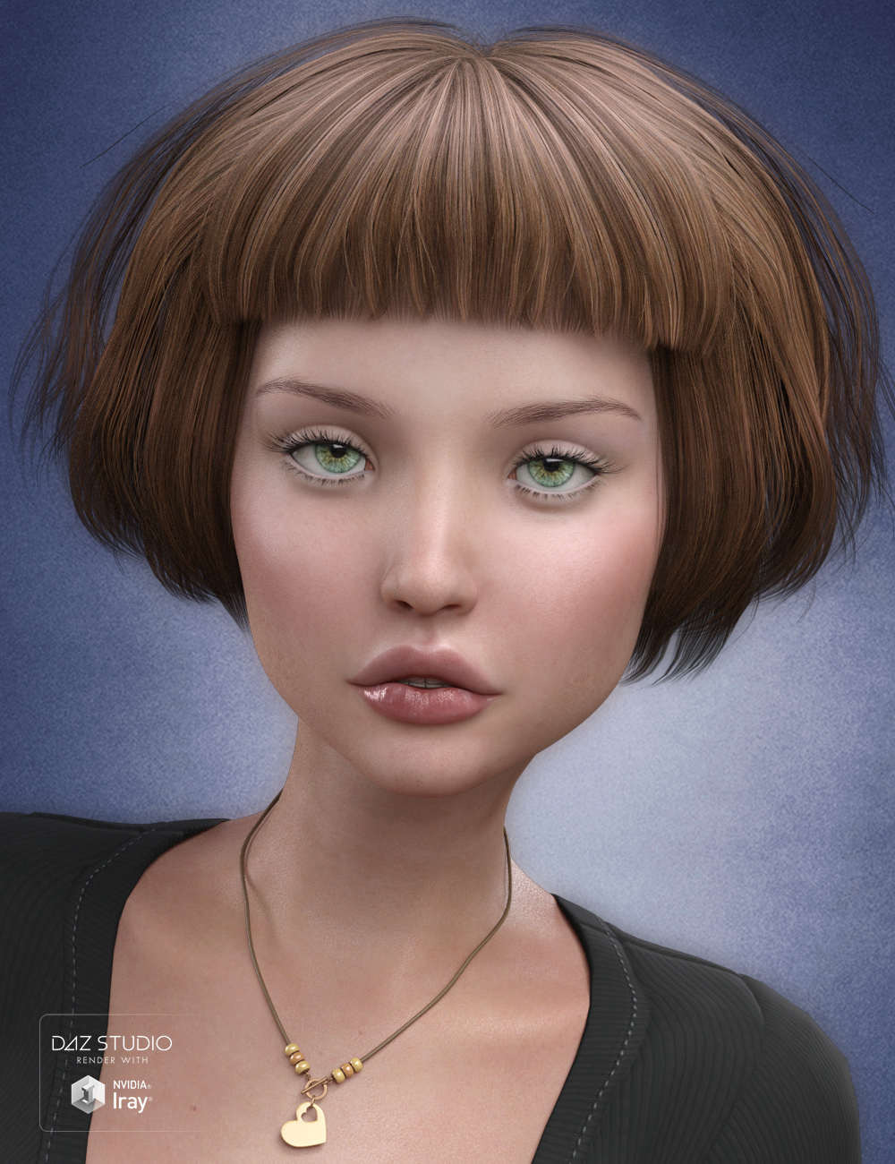 Charlotte Hair for Genesis 3 Female(s) by: SWAM, 3D Models by Daz 3D