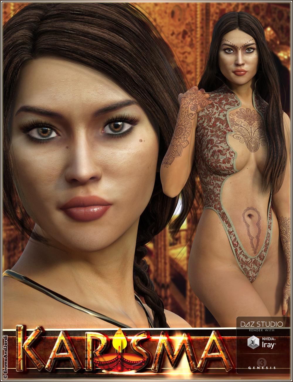 EJ Karisma for Genesis 3 Female by: EmmaAndJordi, 3D Models by Daz 3D