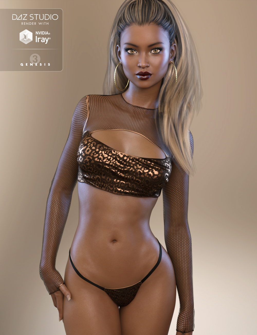 FW Brianna HD for Genesis 3 Female by: Fred Winkler Art, 3D Models by Daz 3D