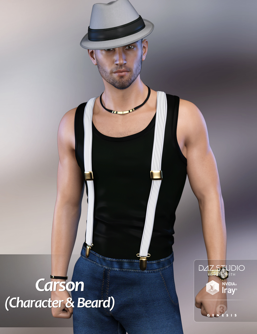 FWSA Carson HD for Michael 7 and LI Carson Whiskers by: Fred Winkler ArtSabbyLaticis Imagery, 3D Models by Daz 3D