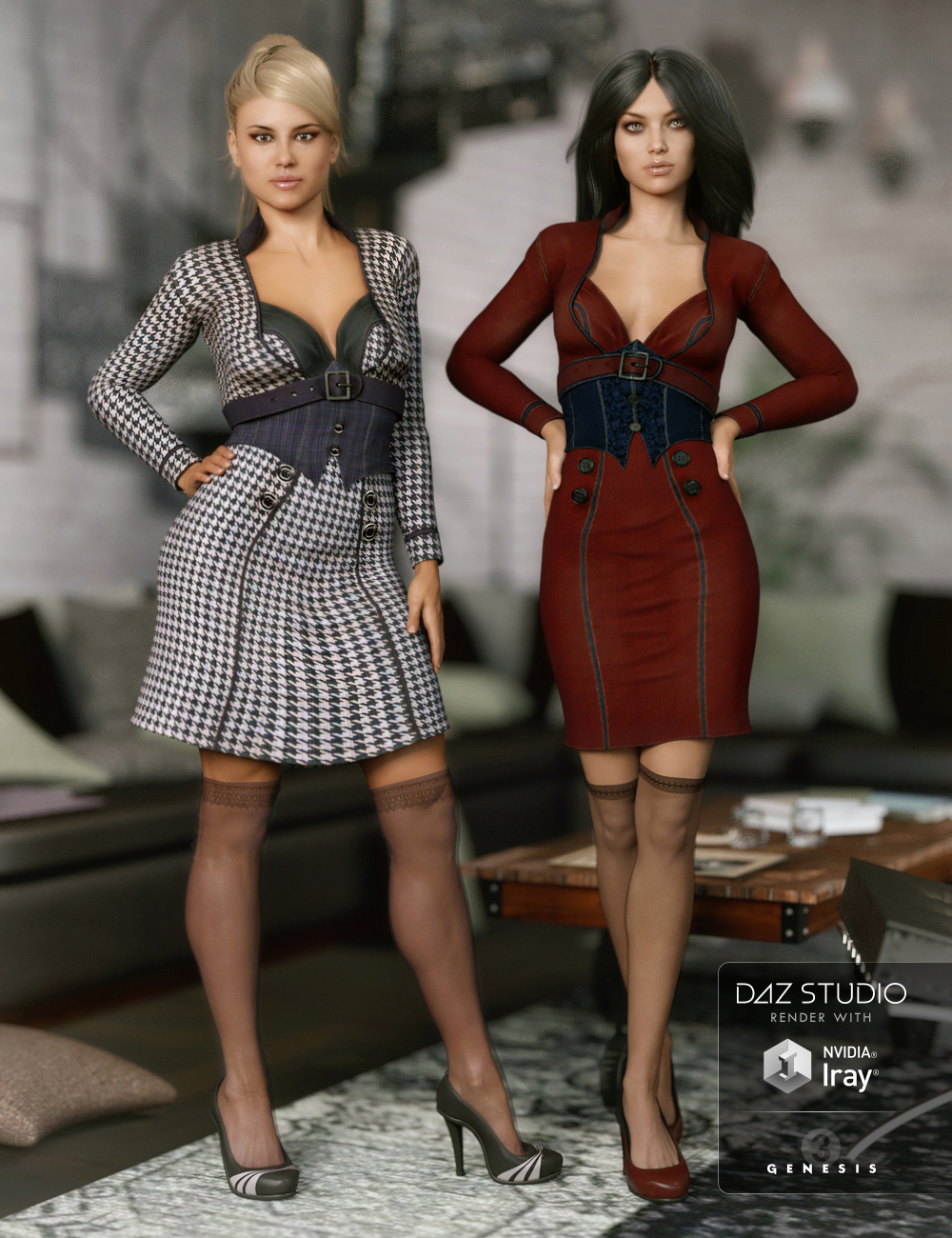 Manic Monday Outfit Textures by: Arien, 3D Models by Daz 3D