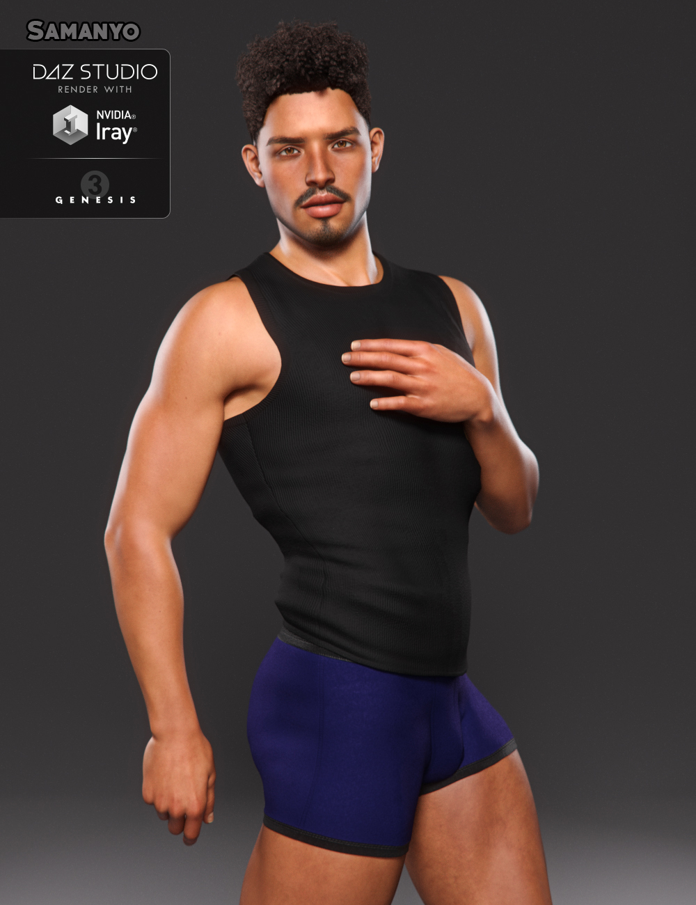 Samanyo for Genesis 3 Male by: JavierMicheal, 3D Models by Daz 3D