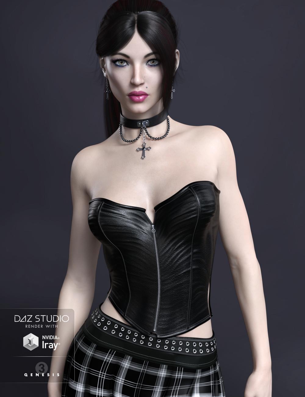 FWSA Chastity HD for Genesis 3 Female by: Fred Winkler ArtSabby, 3D Models by Daz 3D