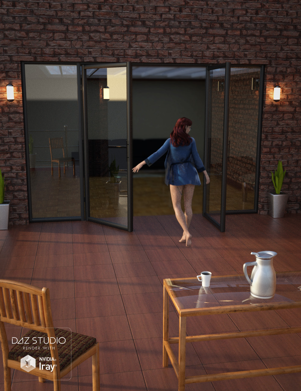 Apartment Patio Set by: , 3D Models by Daz 3D