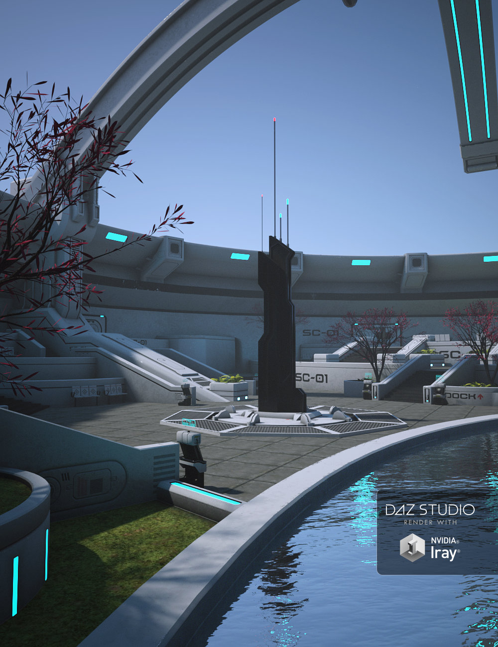 Sci-Fi Square by: Mely3D, 3D Models by Daz 3D