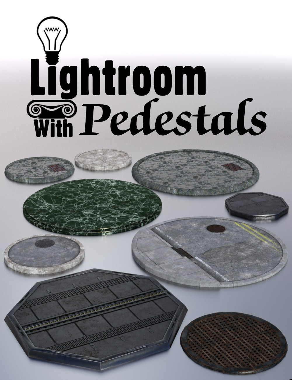 Lightroom with Pedestals by: DzFire, 3D Models by Daz 3D