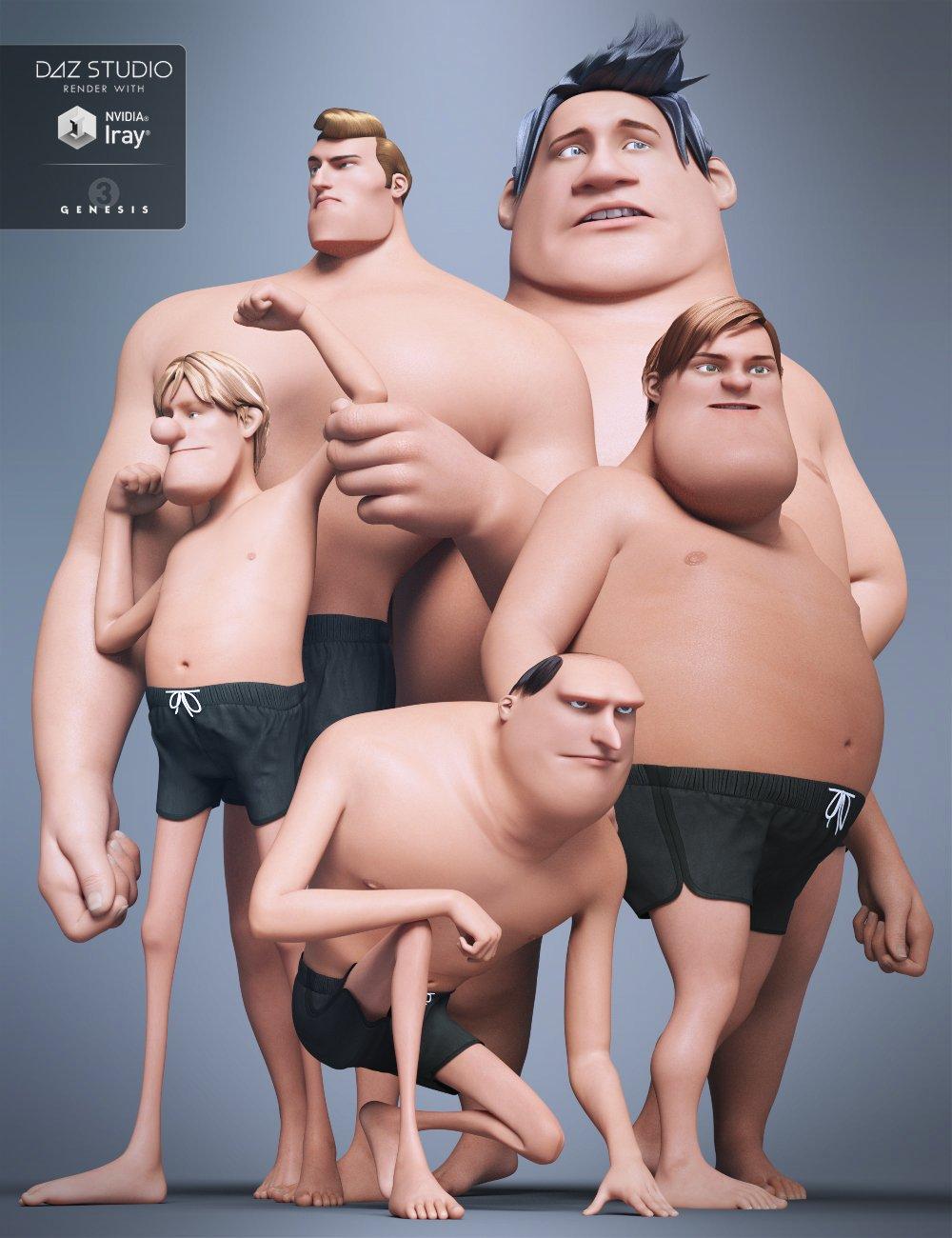 Multi-Man for Genesis 3 Male by: GuruvarJessaii, 3D Models by Daz 3D