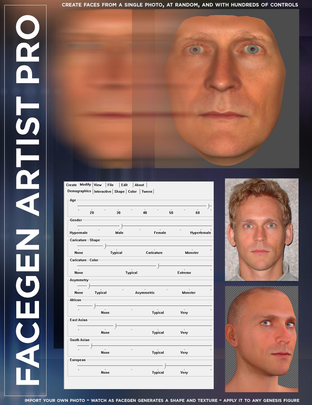 FaceGen Artist Pro by: FaceGen, 3D Models by Daz 3D