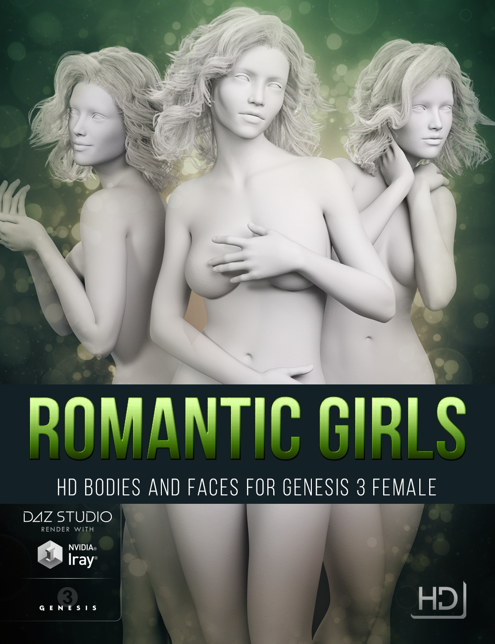 LY Romantic Girls HD Bodies and Faces for Genesis 3 Female by: Lyoness, 3D Models by Daz 3D