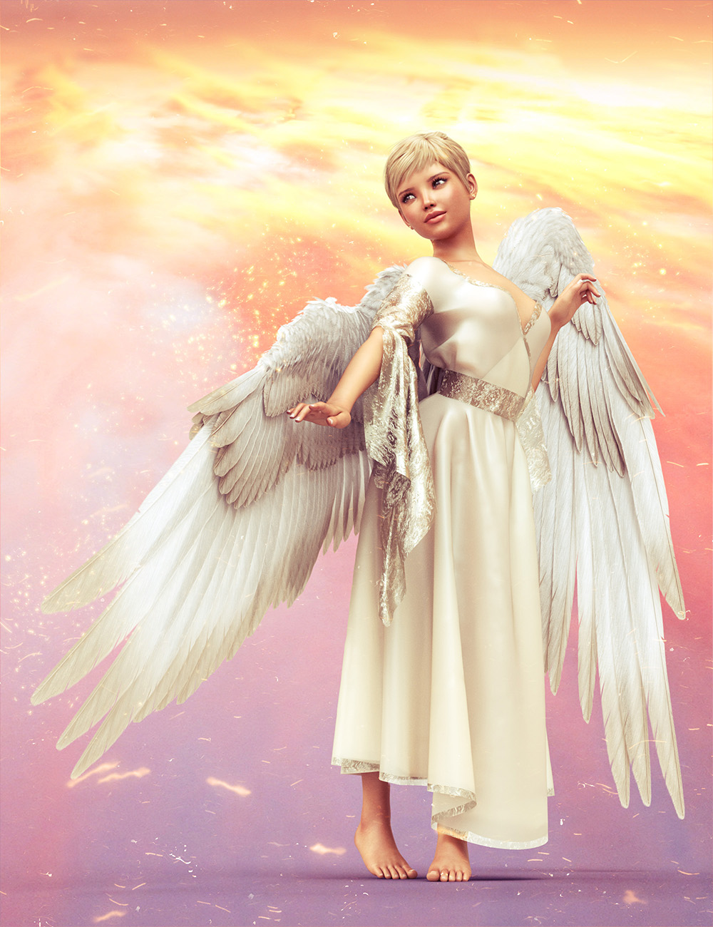 Feathered Wings for All by: 3D Universe, 3D Models by Daz 3D