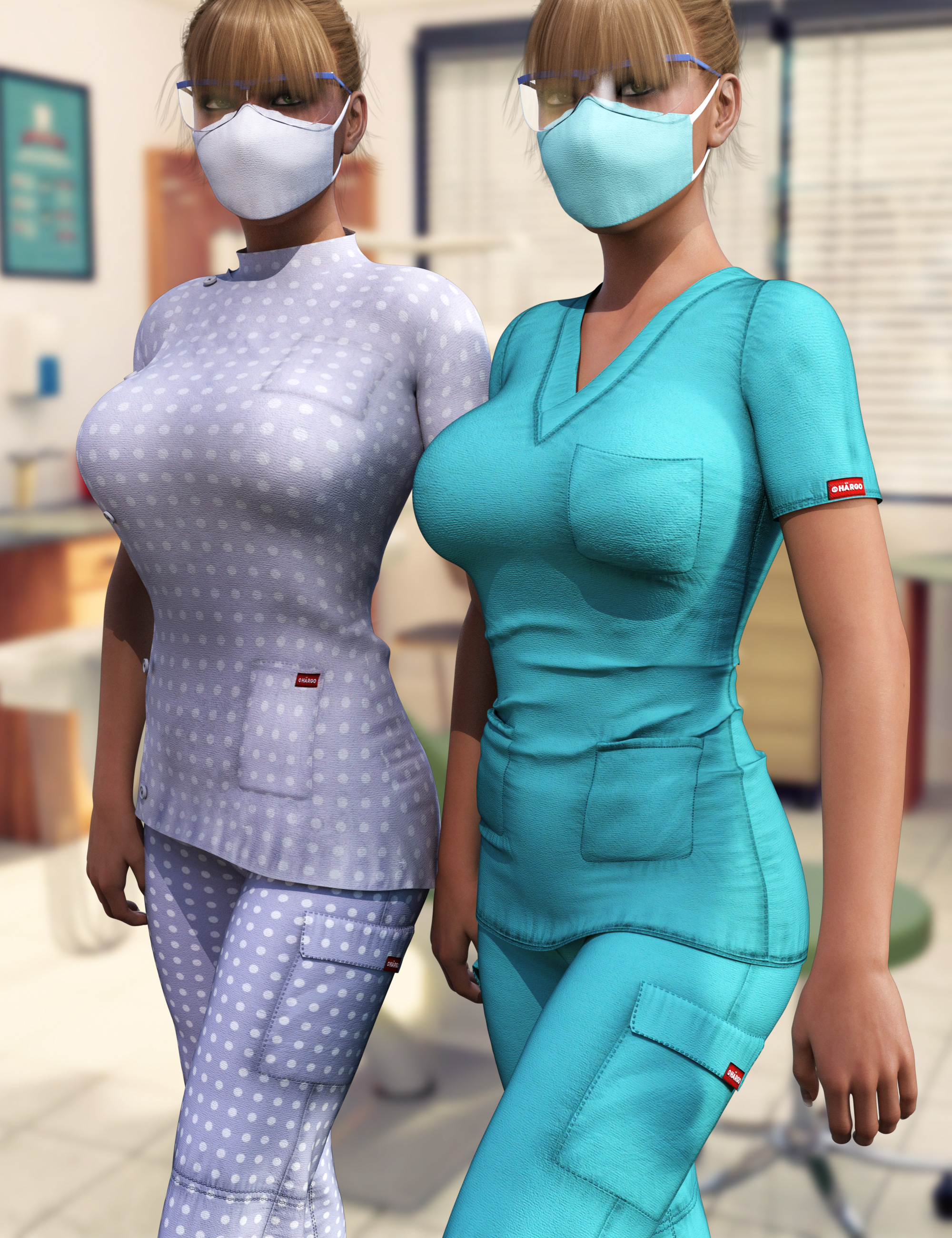 i13 Scrubs for the Genesis 3 Female(s) by: ironman13, 3D Models by Daz 3D