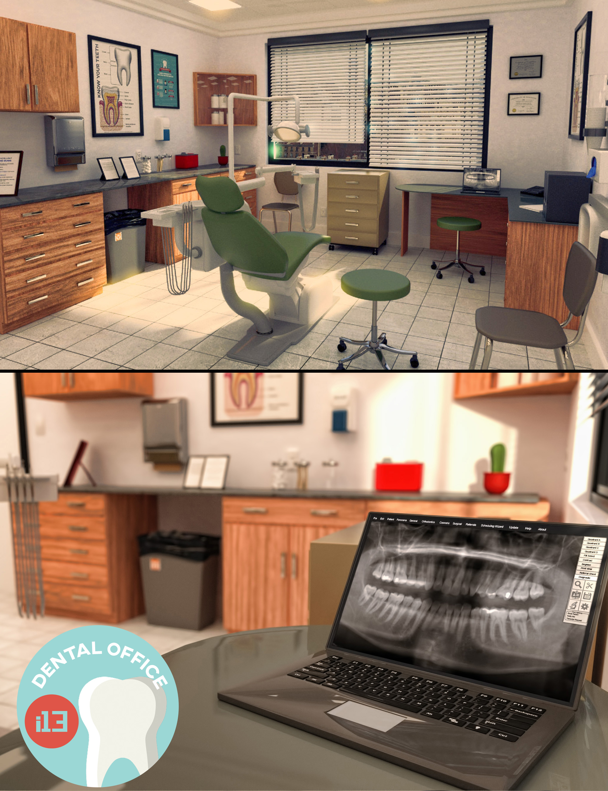 i13 Dental Office Interior by: ironman13, 3D Models by Daz 3D