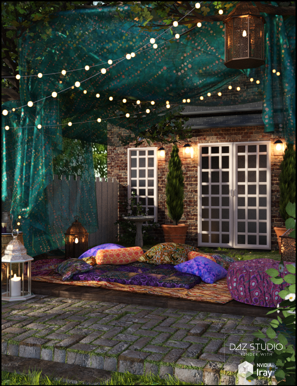 Boho Garden by: Nikisatez, 3D Models by Daz 3D
