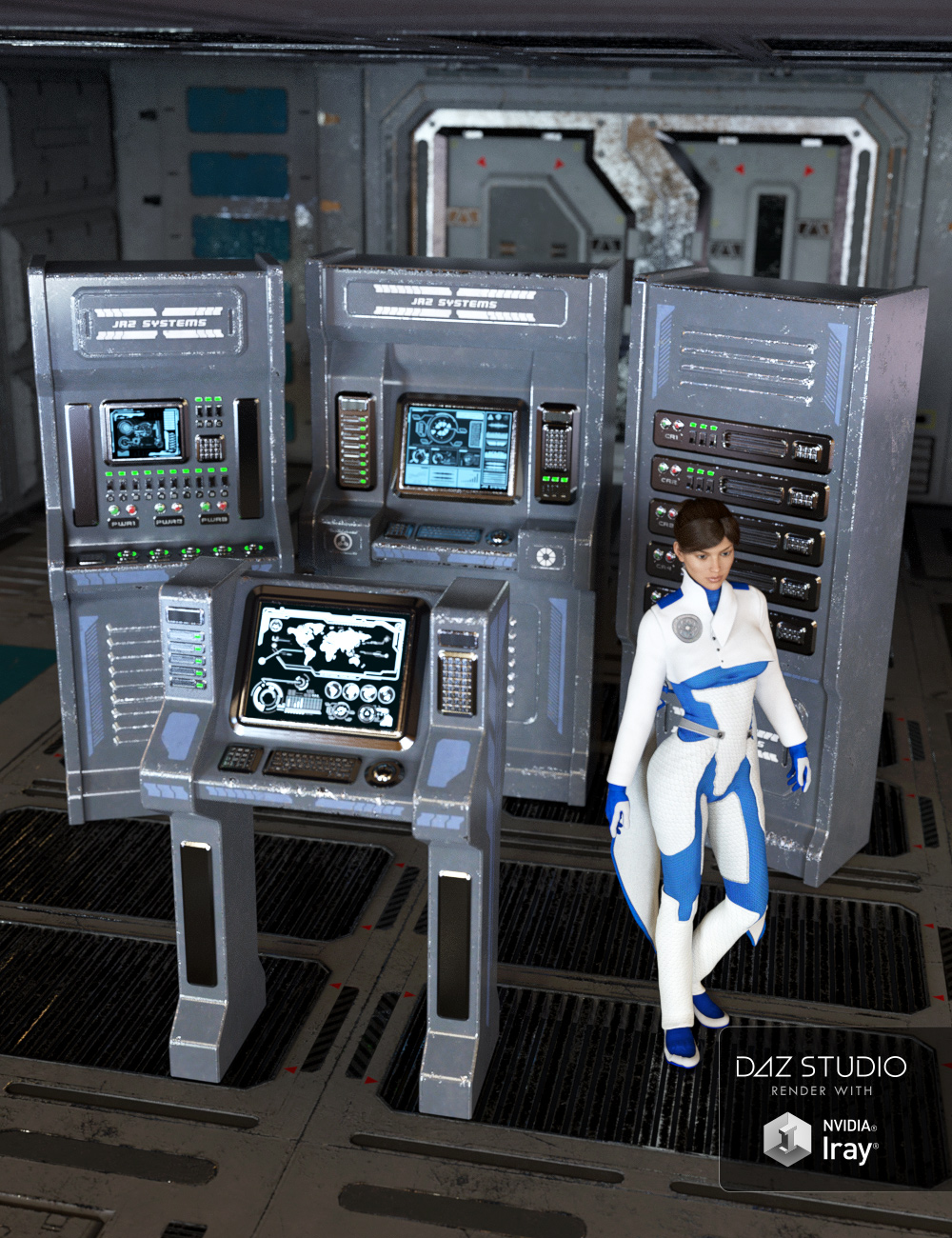 Sci-fi Control Panels by: Nightshift3D, 3D Models by Daz 3D