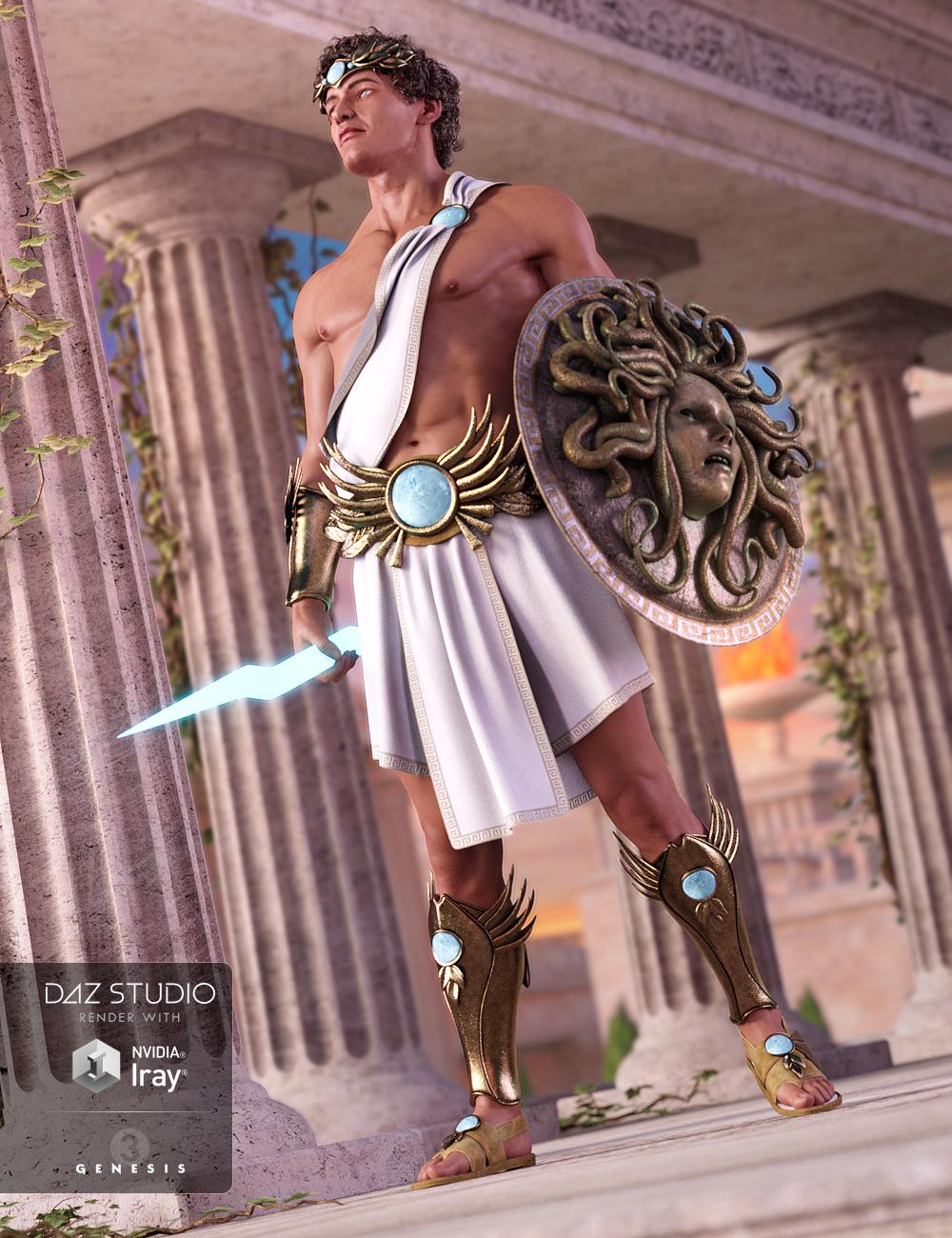 Greek God Outfit for Genesis 3 Male(s) by: NikisatezDirtyFairy, 3D Models by Daz 3D