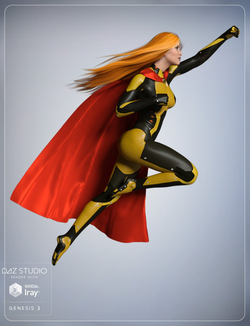 Streaming Hair and Super Cloak Bundle by: smay, 3D Models by Daz 3D