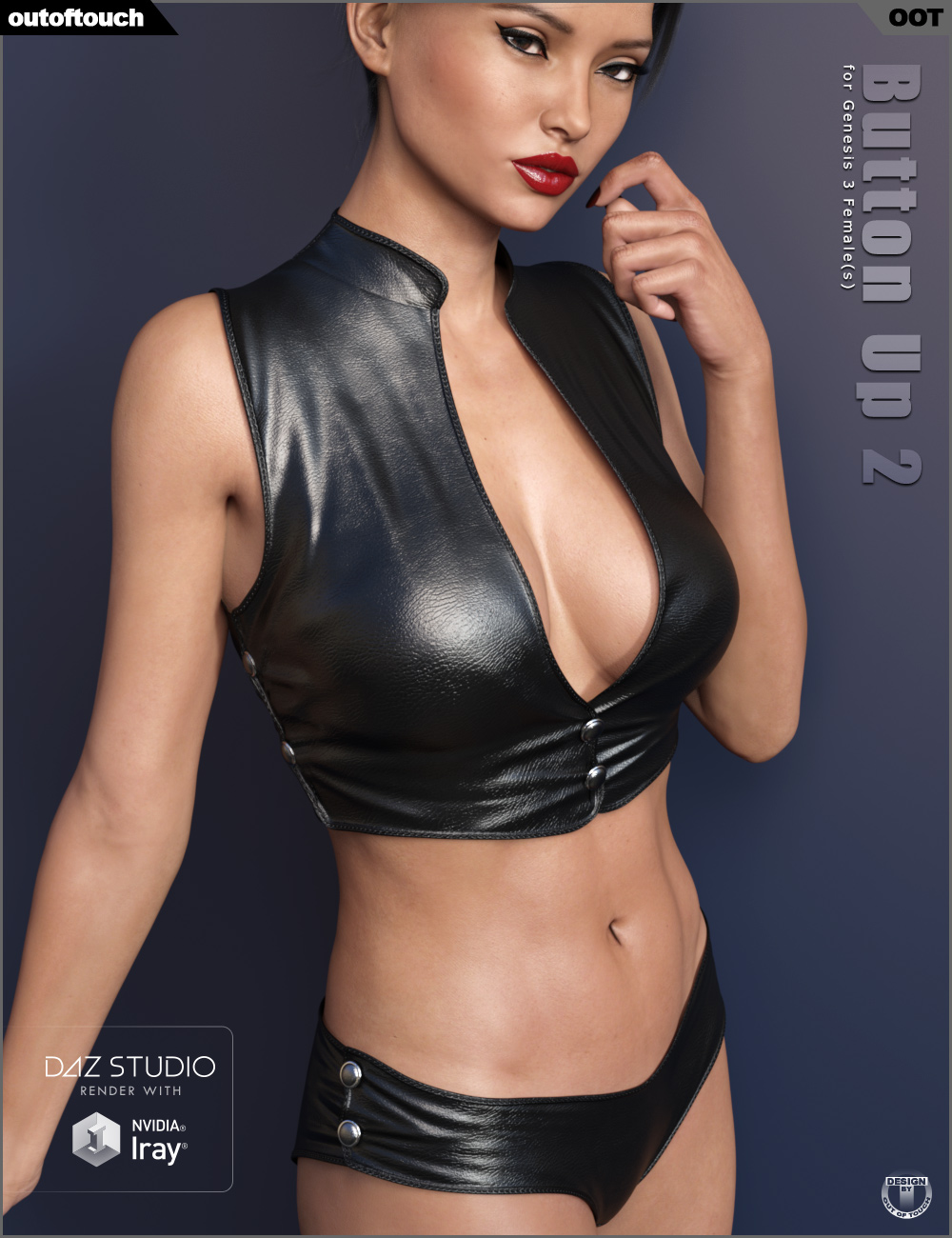 Button Up 2 Outfit for Genesis 3 Female(s) by: outoftouch, 3D Models by Daz 3D