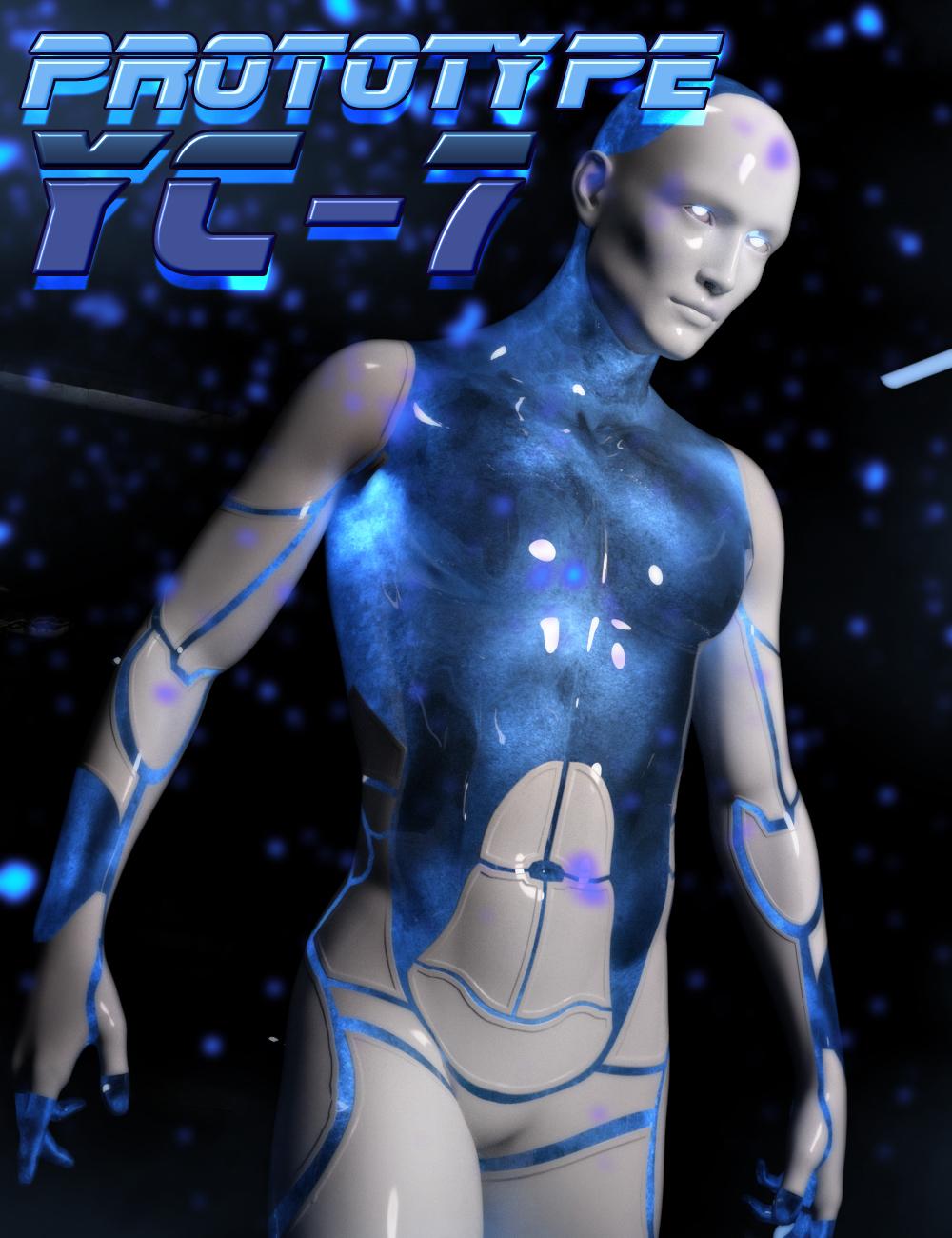 HP Prototype YC-7 for Genesis 3 Male by: SR3, 3D Models by Daz 3D