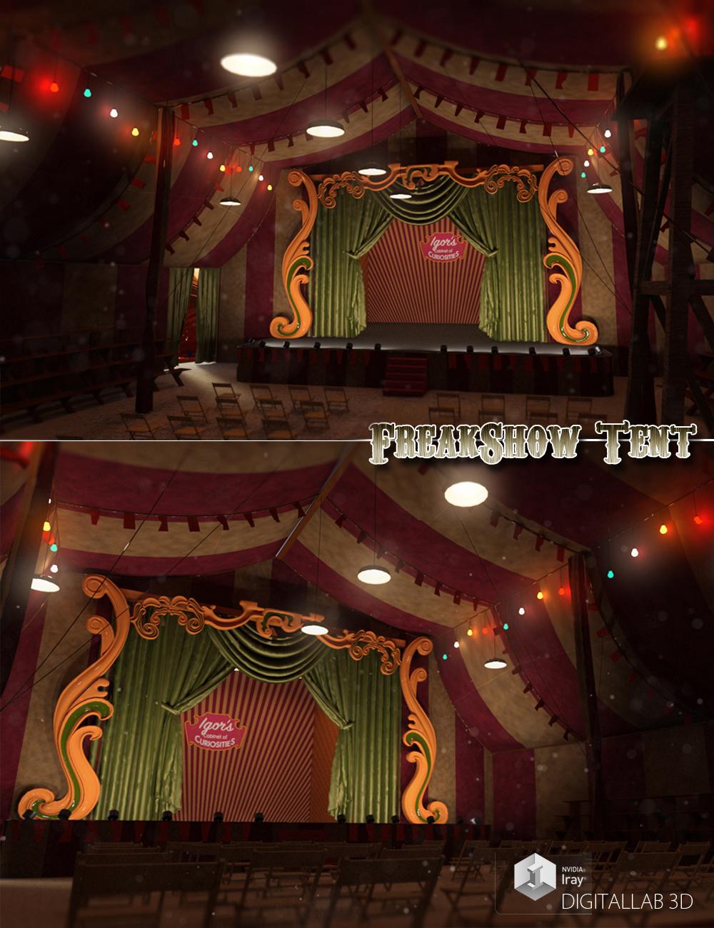 Freakshow Tent by: Digitallab3D, 3D Models by Daz 3D