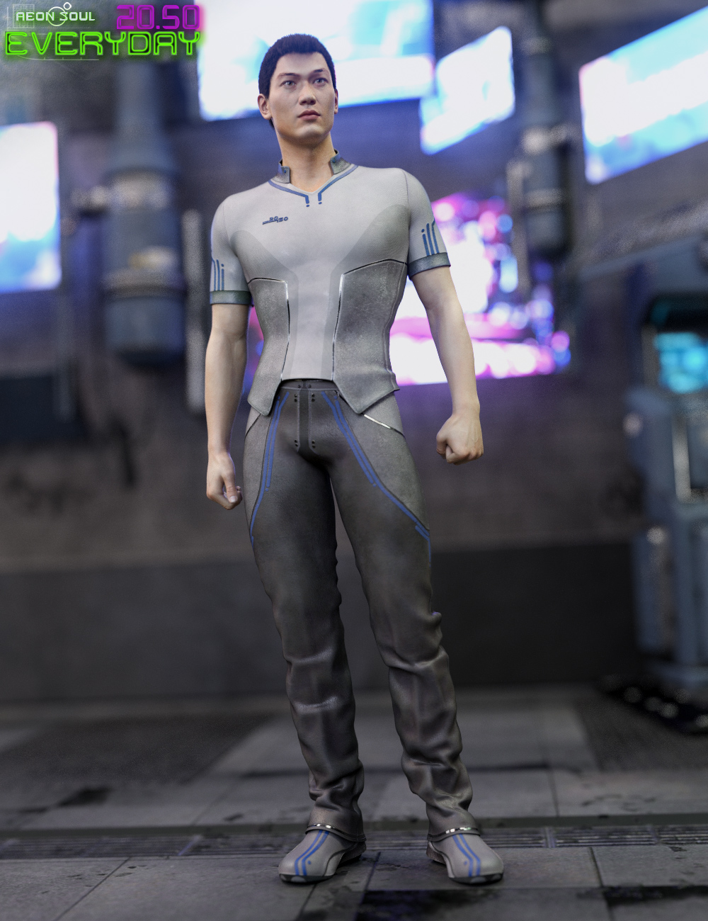 20.50 Cyberpunk Everyday Clothes for Genesis 3 Male(s) by: Aeon Soul, 3D Models by Daz 3D