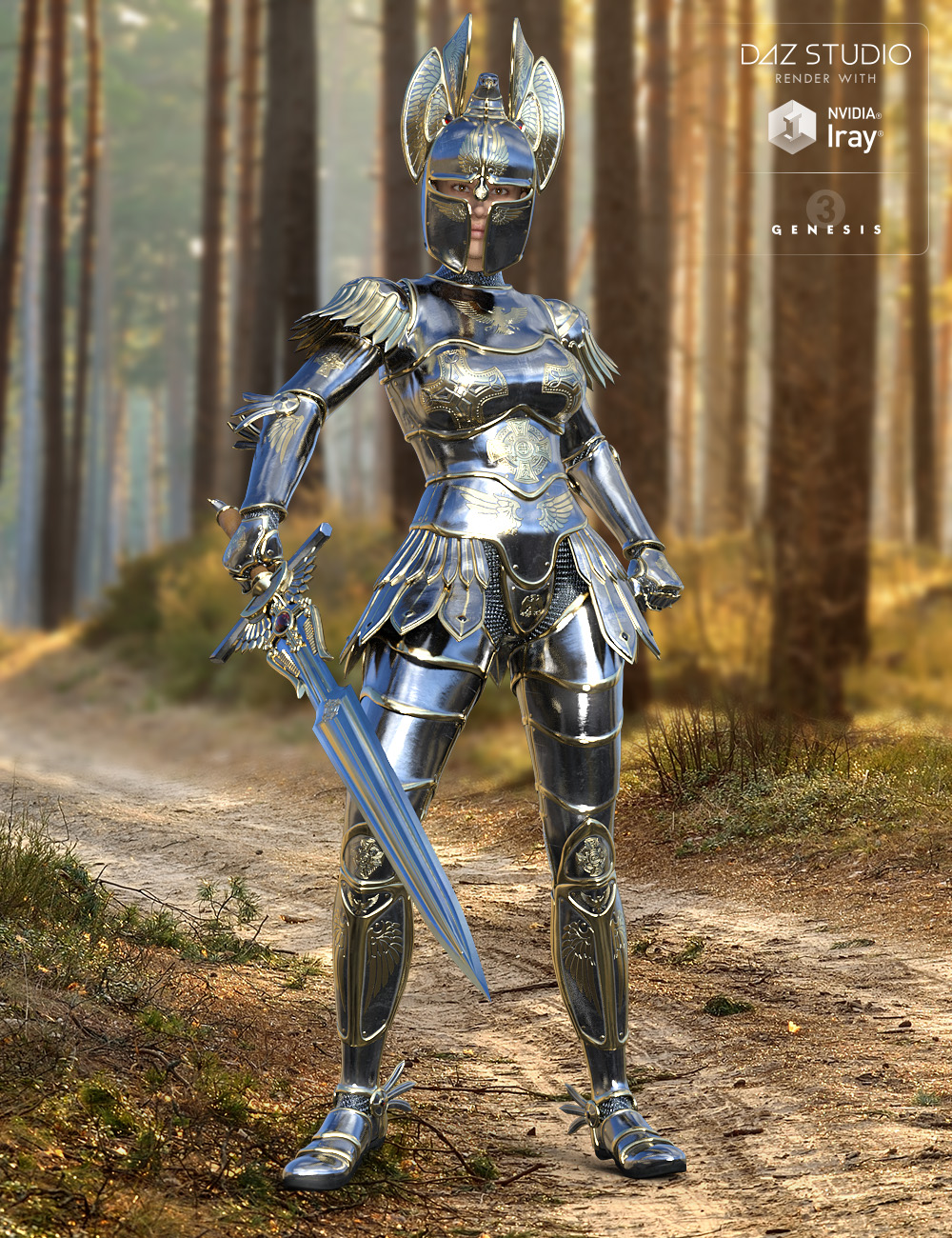 Angel Armor for Genesis 3 Female(s) by: midnight_stories, 3D Models by Daz 3D