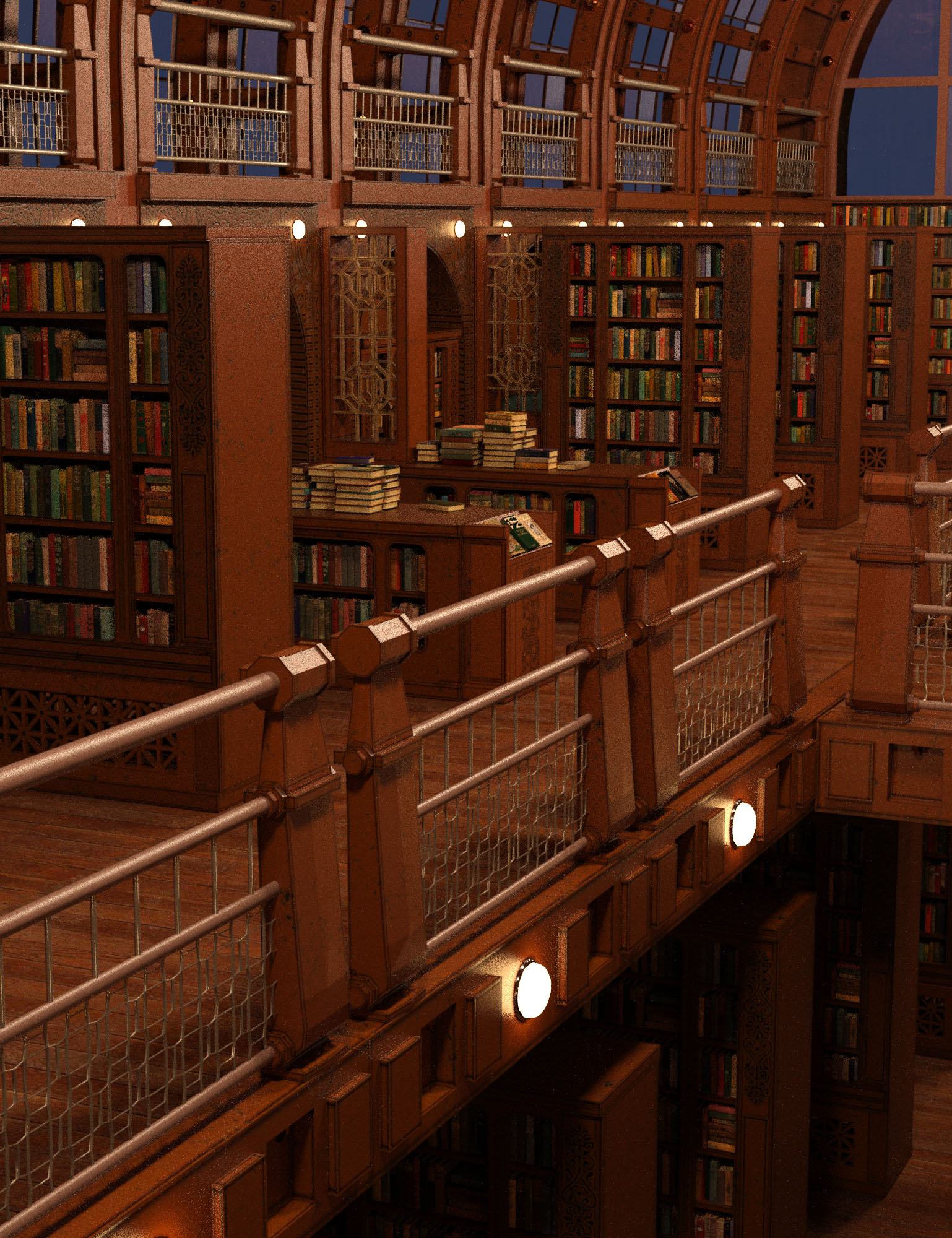 The Great Library by: Oskarsson, 3D Models by Daz 3D