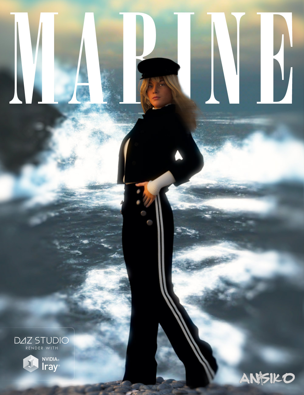 Marine Outfit for Genesis 3 Female(s) by: Ansiko, 3D Models by Daz 3D