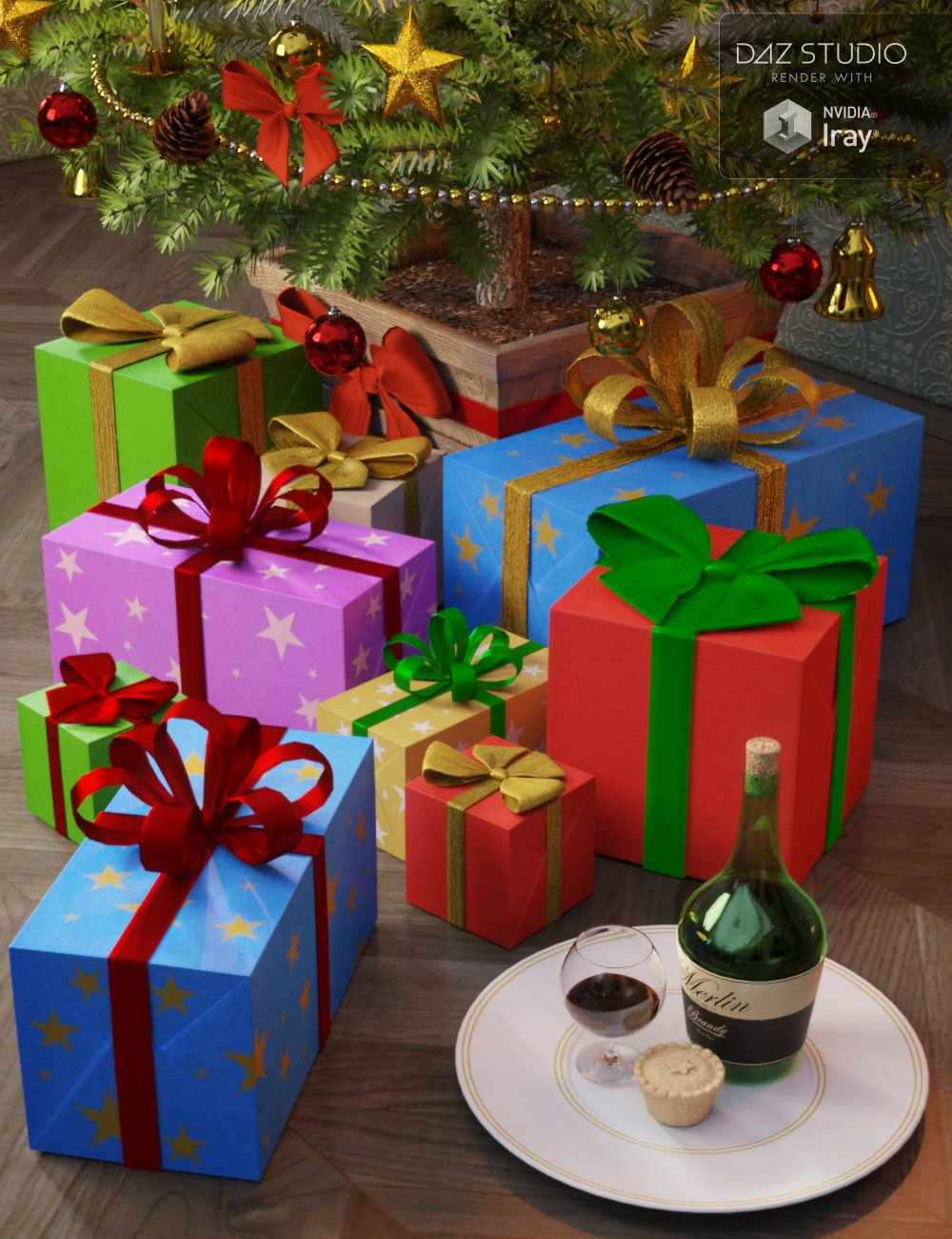 The Night Before Christmas by: Merlin Studios, 3D Models by Daz 3D